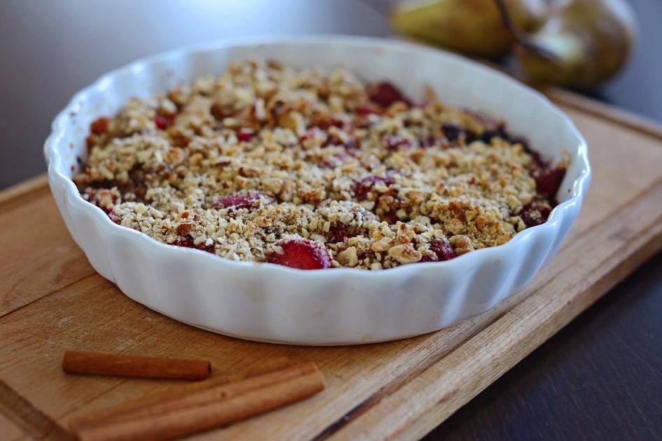 zdrave ranajky - ovocne crumble